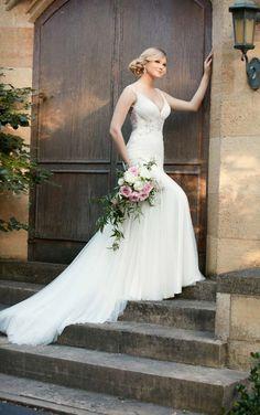 D2078 French Tulle & Lavish Satin Wedding Gown by Essense of Australia