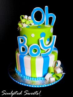 Baby Boy Shower Cake @Maria Canavello Mrasek Canavello Mrasek Canavello Mrasek Henderson McDonald  what do you think of this cake?
