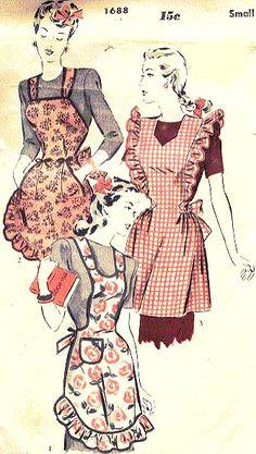 vintage apron patterns - Google Search