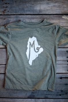 M is for Maine // Toddler Tee - Hills & Trails Co.