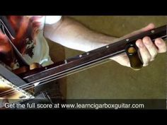 How To Play I Shot The Sheriff On A Cigar Box Guitar - YouTube