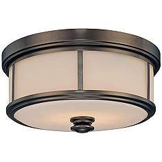 "Minka Lavery Harvard Court 13 1/2"" Wide Bronze Ceiling Light"
