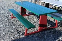 Picnic Table Bench, Outdoor Picnic Tables, Palette, Metal Furniture, Powder Coating, Ping Pong Table, Sky, Colors, Check