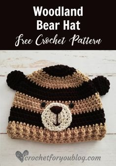 Crochet Woodland Bear Hat Free Pattern - Crochet For You