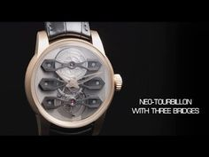 A radical reissue of an old tradition, the Neo-Tourbillon with Three Bridges ushers in the emblematic Girard-Perregaux Tourbillon into a new era of design an. Three Bridges, Girard Perregaux, Ushers, Watch Video, Articles, Watches, News, Youtube, Design