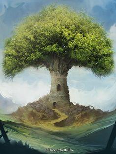Tree tower! by shiprock.deviantart.com on @DeviantArt