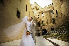 Veil in the wind. #Wedding #photo #shooting at #Bojnice #castle yard, Slovakia.