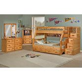 Found it at Wayfair - Chelsea Home Twin Over Full Standard Bunk Bed with Trundle Unit and Staircase