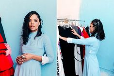 Creed's Leading Lady On Why She's All About Old Clothes #refinery29  http://www.refinery29.com/tessa-thompson-creed