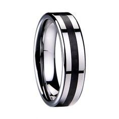 Kohlefaser-Intarsien fit Tungsten Ring