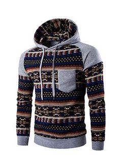 http://amzn.to/2dWELKC WOCACHI Herren Kapuzenpullover Männer Retro lange Hülse weich und warm Hoodie mit Kapuze Sweatshirt Tops Jacke Coat Outwear