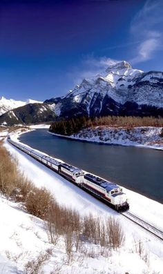 """The """"Rocky Mountaineer Train"""" on the Canadian Pacific Railway through Banff National Park, Alberta – Canada. The """"Rocky Mountaineer Train"""" on the Canadian Pacific Railway through Banff National Park, Alberta – Canada. Canadian Pacific Railway, Canadian Rockies, Banff National Park, National Parks, Lac Louise, Places To Travel, Places To See, Places Around The World, Around The Worlds"""