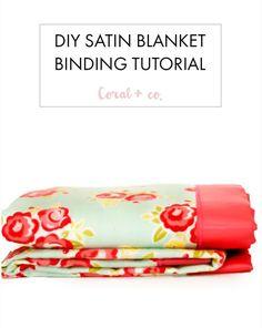 DIY How to sew satin blanket binding receiving blanket