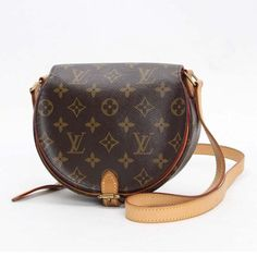 Louis Vuitton Sac Tambourine Monogram Cross body bags Brown Canvas M51179