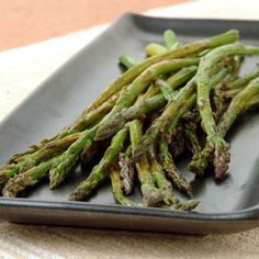 Balsamic Roasted Asparagus - Although I prefer my asparagus just slightly boiled and lightly seasoned, this cooking method is a great alternative when I want to change things up. I like to cook it a few minutes extra so it caramelizes a bit.