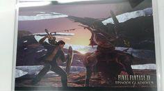 Final Fantasy 15 XV Postcard Episode Gladiolus Gilgamesh Square Enix Cafe F/S