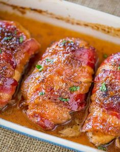 Bacon Brown Sugar Garlic Chicken, the best chicken you'll ever eat with only 4 ingredients. Sticky, crispy, sweet and garlicky, the PERFECT weeknight meal. Garlic Chicken Recipes, Chicken Bacon, Bacon Recipes, Turkey Recipes, Dinner Recipes, Cooking Recipes, Healthy Recipes, Dinner Ideas, Chicken Meals