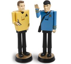 Classic Star Trek Nutcrackers (Image courtesy What on Earth)