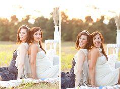 idea for sister maternity photos!