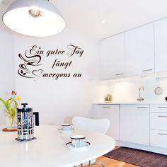 Wandtattoo küchen schöner tag
