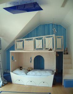 etagenbett kind wei und blau f r kinderzimmer jugendzimmer m bel mit coole etagenbett mit. Black Bedroom Furniture Sets. Home Design Ideas