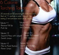 6 Calorie Torching Tabata Workouts