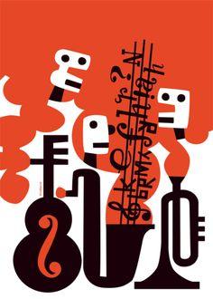 'Music'. Giclée Art Print by Lasse Skarbovik