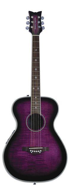 Deep Purple, Blackberry, and Aubergine guitar