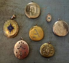Vintage Lockets by Theodosia Jewelry. Our new vintage lockets we found over the weekend!   www.theodosiajewelry.com http://thenearby.com/posts/4317
