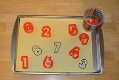 DIY numbers puzzle with cookie cutters
