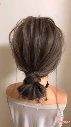 Bun Hairstyles For Long Hair, Pretty Hairstyles, Braided Hairstyles, Medium Hair Styles, Curly Hair Styles, Hair Upstyles, Hair Arrange, Hair Videos, Hair Hacks