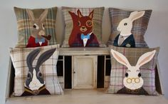 love these cushions by wagtail and willow http://www.wagtailandwillow.co.uk/