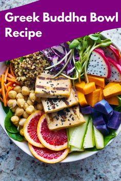 If you are looking for easy dinner ideas, this healthy and tasty Greek Buddha Bowl is a perfect choice. Highly customizable and suitable for both vegan and meat-lovers, it will instantly become a family favorite. Head to our site for full recipe! #dinnerideas #easydinnerideas #buddhabowl #healthy #vegan #lunchideas #homemade #nymelrosefamily Going Vegetarian, Going Vegan, Vegetarian Recipes, How To Become Vegan, Vegan Options, Easy Dinner Recipes, Dinner Ideas, Food Diary, Fruits And Veggies