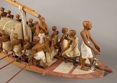Travelling Boat being Rowed, from the Tomb of Meketre.