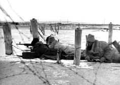 An Axis Romanian Army machine-gun crew fire at enemy Soviet troops near Novorossiysk with a Czechoslovakian made ZB vz. 37 gun. When the Germans launched Operation Barbarossa, invading the Soviet Union on 22 June 1941, Romania joined the offensive. The Romanian contribution of troops was enormous. The total number of troops involved on the Eastern Front with the Romanian Third Army and the Romanian Fourth Army was second only to that of Nazi Germany itself.