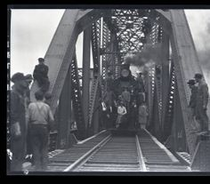 L&N Railroad - New Bridge Opening :: Wolff, Gretter, Cusick, Hill Studio Negatives Collection, railroad, engineers
