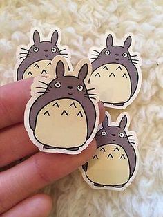 5x Handmade My Neighbour Totoro Sticker Drawn Studio Ghibli Cute Kawaii