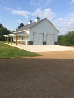 Pole Barn Garage, Pole Barn House Plans, Cabin House Plans, Pole Barn Homes, Barn Plans, Garage Plans, Garage Ideas, Storage Buildings, Shop Buildings