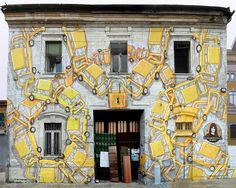 New Murals from Blu on the Streets of Italy street art murals. #streetart #mural