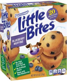 Made with real ingredients like real blueberries and no high fructose corn syrup these Little Bites® Blueberry Muffins are The Perfect Portion of Happiness! Bad Room Ideas, Perfect Portions, Little Bites, Breakfast Time, Breakfast Ideas, Mini Chocolate Chips, School Snacks, Blue Berry Muffins, Food Cravings