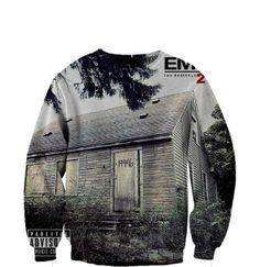 Eminem  Abum sweatshirt  Fan Art All Over Print by TrendingApparel, $58.99