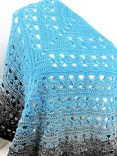 Ravelry: Lunar Crossings Shawl pattern by Kim Guzman Crochet Prayer Shawls, Poncho Au Crochet, Crochet Diy, Crochet Shawls And Wraps, All Free Crochet, Crochet Scarves, Crochet Clothes, Crochet Stitches, Crochet Patterns