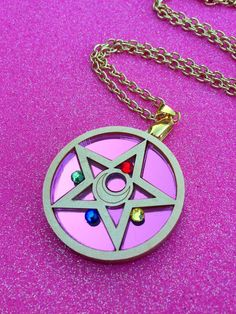 Sailor Moon Crystal Star Compact Necklace by GeekyWears on Etsy