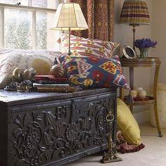 the fair peacock: robert kime: antiques, textiles, interiors