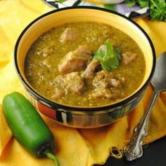 A recipe for authentic Chile Verde with Pork...all the tomatillos, peppers, and cilantro your heart will desire!