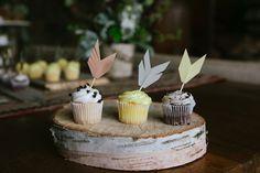 DIY arrow cupcake toppers