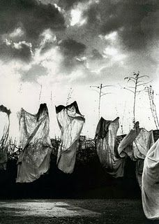 Mario Giacomelli from the series The Theatre of Snow / Il teatro della neve (The series was created in 1984 and 1986 from photographs taken in Senigallia, Italy between 1954 and 1986.)