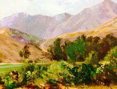 "Art Cocoon | Featured Artist Gloria Chadwick ""Hills of Dehesa"" 6"" x 8"" plein air #OilOnCanvas #PleinAir"