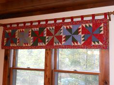 Pinwheel Window Valance Is A Delightful Touch Quilting