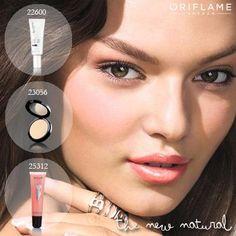 Gunakan Oriflame beauty whitening foundation, oleskan bedak Oriflame Studio Artist dan tutup dengan sapuan Marcel Morangiu Lip gloss untuk mendapatkan the new natural look.
